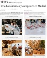 """""""Una boda rústica y campestre en Madrid""""-BODAS CON ESTILO-TELVA NOVIAS"""