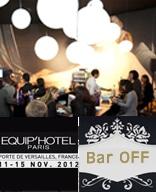 Julio Barbé Chef de Medems elabora la carta de tapas del Bar Off  en el Salon Equip' Hôtel 2012 – Paris, del 11 al 15 de noviembre 2012