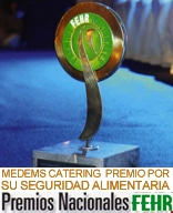 """Medems Catering Premio por su """"Seguridad Alimentaria en la Mejora de sus Instalaciones y en la Aplicación de Procesos"""" Premios Nacionales de Hostelería Noviembre 2007"""