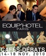 """Medems """"Fashion, Luxury, Catering and Spanish style success story"""" """"Testimonials"""" de los Cafés-Débats en el Salon Équip'Hôtel 2010"""