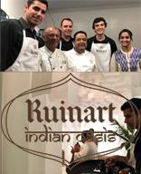 Medems Catering ha colaborado en la presentación del menú degustación, inspirado por las notas especiadas de Ruinart Rosé, diseñado por el mejor chef de la India, Manish Mehrotra.