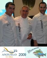 """2º Premio en la categoría de Pescado Azul en el II Concurso Nacional de Cocina """"Anzuelo de Oro"""" 21 de octubre de 2009"""