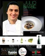 """2º Premio del """"VI Concurso Gusti-Negrini de cocina Creativa con Ingredientes Italianos"""" Madrid Fusión 25 enero 2012"""