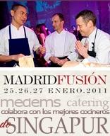 Medems Catering colabora con los mejores cocineros de Singapur Ryan Clift, Matthew Bax, Janice Wong, Kevin Cherkas y André Chiang invitados en Madrid Fusión 2011