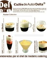 Creación del Recetario Del'Art Cafés de Autor Delta. Carta de diferentes cafés con ingredientes y presentaciones innovadoras elaboradada por Medems Catering para Delta Cafés – 2006-